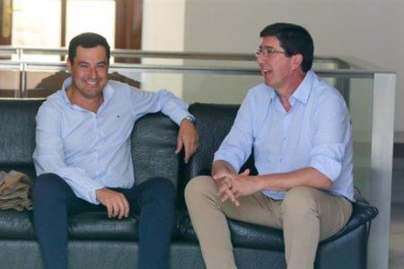 Moreno y Marín abren junto a García Egea y Villegas las reuniones para un acuerdo PP-Cs en Andalucía tras el 2-D