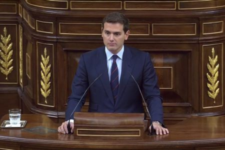 Rivera insta a Sánchez el 155: «Que le pida a Torra que aplique, garantice y cumpla la Constitución»