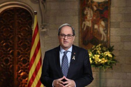 Quim Torra apela a la «unidad de los demócratas» para conseguir «el mandato democrático de libertad» en 2019