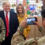 Trump visita por sorpresa a los soldados estadounidenses en Irak