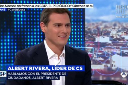 Rivera urge a un nuevo 155 en Cataluña: «No teníamos que haberlo levantado hasta que Torra no claudicara ante la democracia»