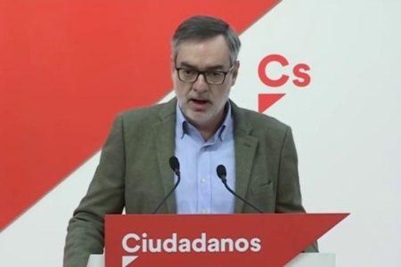 Villegas asegura que C's solo aceptará compartir el Gobierno de coalición con el PP y descartan formar «ningún tipo de tripartito»
