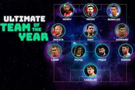 Seis españoles en el once histórico de la UEFA