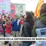Un grupo de independentistas intentan boicotear un acto en la Universidad Autonóma de Barcelona a pocos días de reunirse el Consejo de Ministros