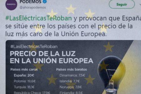 Podemos cita a Turquía, Noruega e Islandia como países de la UE en su última campaña viral