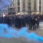 Los Mossos se movilizan para conseguir una subida salarial: han cortado la Gran Vía de Barcelona