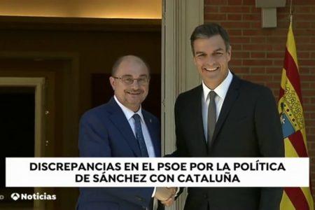 Discrepancias entre los barones del PSOE por la política de Sánchez en Cataluña