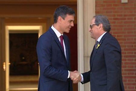 El Gobierno cree que habrá un encuentro entre Pedro Sánchez y Quim Torra este viernes
