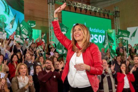 Susana Díaz llama a impedir la «involución» en Andalucía: «Pido el voto para ser el dique de contención de la derecha»