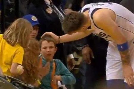 El gran gesto de Luka Doncic con un niño que aplaude toda la NBA