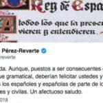 """Pérez-Reverte se mofa del lenguaje podemita: saluda a """"los guardios y guardias civiles y civilas"""""""