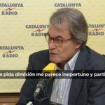 """Artur Mas considera que pedir la dimisión de Buch es """"inoportuno y partidista"""""""