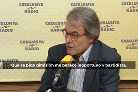 Artur Mas considera que pedir la dimisión de Buch es «inoportuno y partidista»