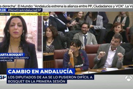 Marta Bosquet, sobre la presencia de Vox en la Mesa del Parlamento: «No es mi papel valorar las fuerzas que me han votado»