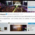 Abascal responde a Rivera: «Vox aspira a liderar gobiernos patrióticos sin veletas ni separatistas»
