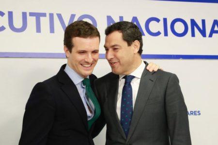 """Casado advierte a Ciudadanos de que cualquier intento para no apoyar a Moreno tendrá una """"repercusión electoral"""""""