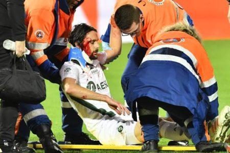 Subotic acaba en el hospital al recibir un durísimo rodillazo en la sien