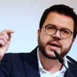 """Aragonès llama a no caer en provocaciones y a combatir con pacifismo el """"relato falso de la violencia"""""""