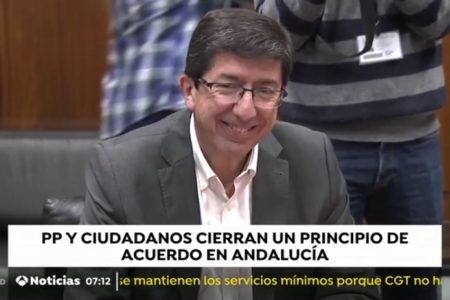 El PP y Ciudadanos alcanzan un «principio de acuerdo programático» en Andalucía que prevén cerrar este viernes