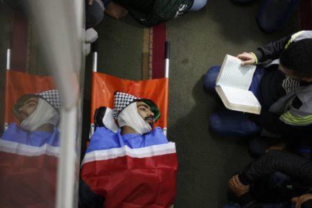 Escena de la muerte de un joven discapacitado de un tiro por la espalda en Cisjordania / 2