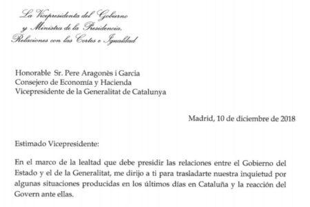 El Gobierno reclama al Govern catalán explicaciones por las órdenes a los Mossos para no actuar ante los CDR