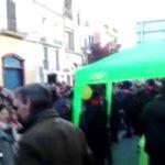 Protestas contra una carpa informativa de Vox en Sitges