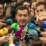 Juanma Moreno: «Este Gobierno nace con la vocación de cumplir la legislatura»
