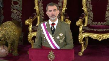 El Rey preside la Pascua Militar ensalzando la bandera española como un símbolo de unidad