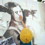 Grafitis feministas pintan la historia obrera gaditana