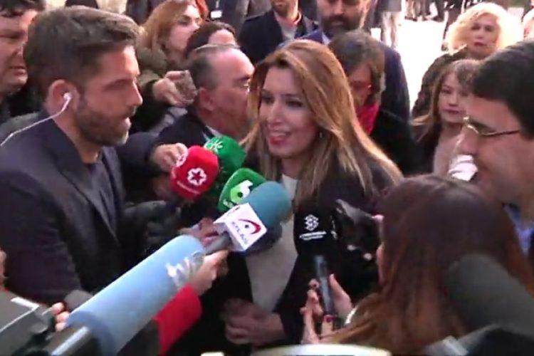 Susana Díaz responde a la dirección del PSOE que su respaldo viene de los militantes