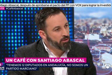 """Santiago Abascal, sobre el acuerdo de Gobierno en Andalucía: """"No íbamos a ser un obstáculo pero tampoco un felpudo"""""""