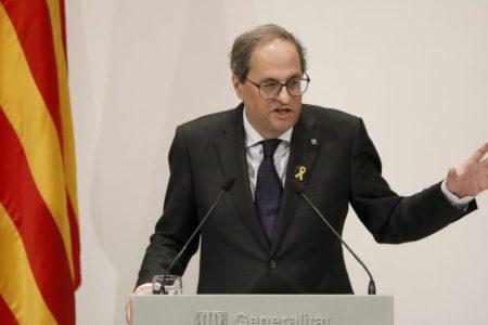 Torra avisa de una «crisis de Govern» si no hay unidad independentista con los presupuestos de Sánchez