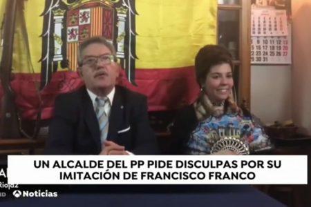 Polémica broma de un alcalde riojano al parodiar a Franco en el Día de los Inocentes