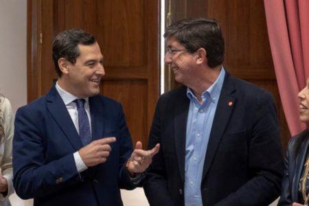 PP y Ciudadanos acuerdan reducir el número de consejerías y de delegados territoriales en Andalucía