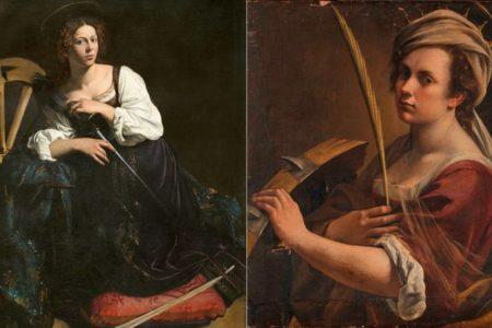 Santa Catalina: la mujer que Caravaggio ignoró y Gentileschi defendió