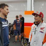 Así fue el primer día de Lorenzo en Honda