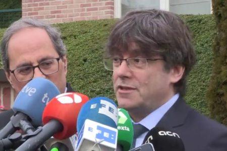 Torra visita a Puigdemont en pleno debate de apoyo a los presupuestos y días antes del juicio por el 'procés'