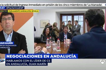 Marín rechaza imposiciones: «Aquí sólo hay una negociación, de PP y Cs»