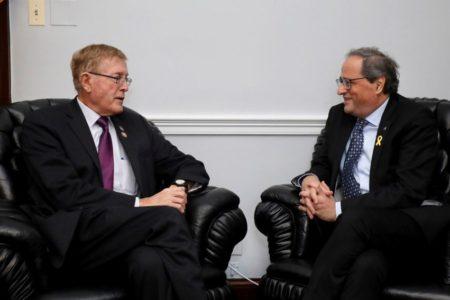 """Torra pide """"mediación internacional"""" a cuatro congresistas estadounidenses"""