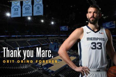 Marc Gasol, el primer español que verá colgada su camiseta en un pabellón NBA