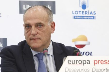 Javier Tebas ve al Real Madrid y a la RFEF detrás del borrador de la Ley del Deporte