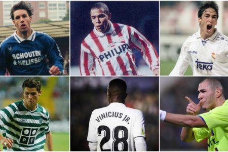 Así eran los últimos grandes goleadores del Real Madrid a la edad de Vinicius