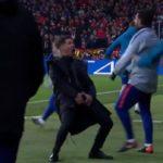 La UEFA abre expediente a Simeone por su gesto ante la Juventus