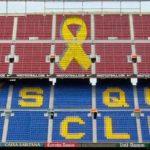 Socios del Barça piden colocar un gran lazo amarillo en el Camp Nou