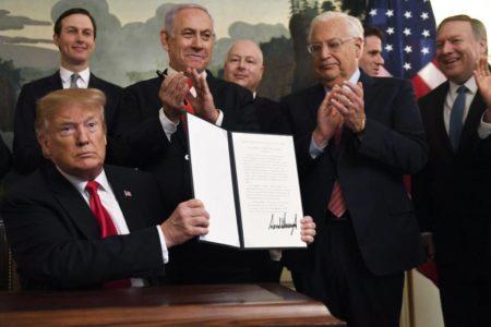 Trump reconoce los Altos del Golán como territorio israelí