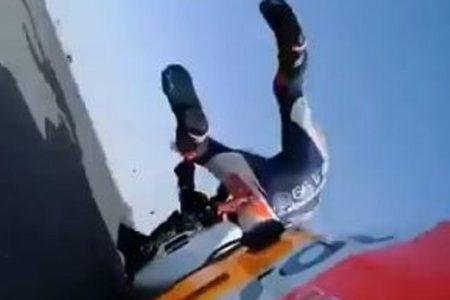 La caída de Lorenzo que enciende las alarmas en el box de Repsol