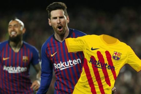 El Barcelona desempolva la «senyera» para jugar en el Bernabéu