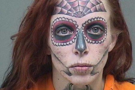 La mujer con la cara tatuada que ha sido detenida tres veces en seis meses