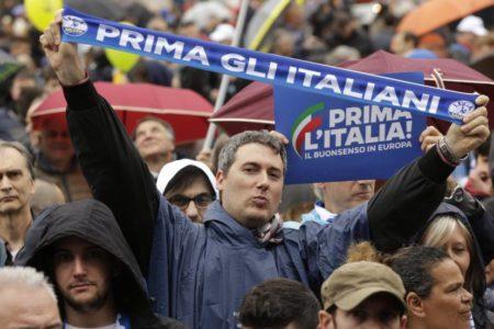 La ultraderecha europea corona en Milán a Salvini como su nuevo líder