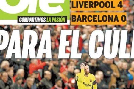 La prensa argentina, muy crítica con el Barcelona y Messi